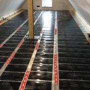 Installation einer elektrischen Fußboden-Infrarotheizung -  elektrischer Anschluß und Thermostat - Teil 2