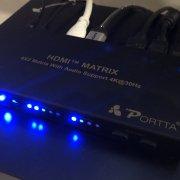 Produktvorstellung: HDMI Matrix 4x2 von Portta für Beamer und TV Betrieb