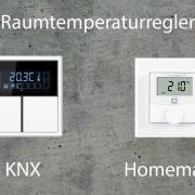 Raumtemperaturregler im Vergleich (Homematic IP oder KNX) über Node Red können auch die schicken Regler von KNX verwendet werden