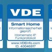 Smart Home rundum sicher: VDE zertifiziert Protokoll-, IT- und Datensicherheit von Homematic IP