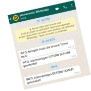 Homematic Meldungen als Nachricht via WHATSAPP an das Smartphone schicken
